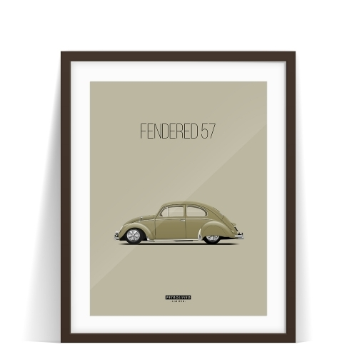 car prints, fendered 57, luxury car art