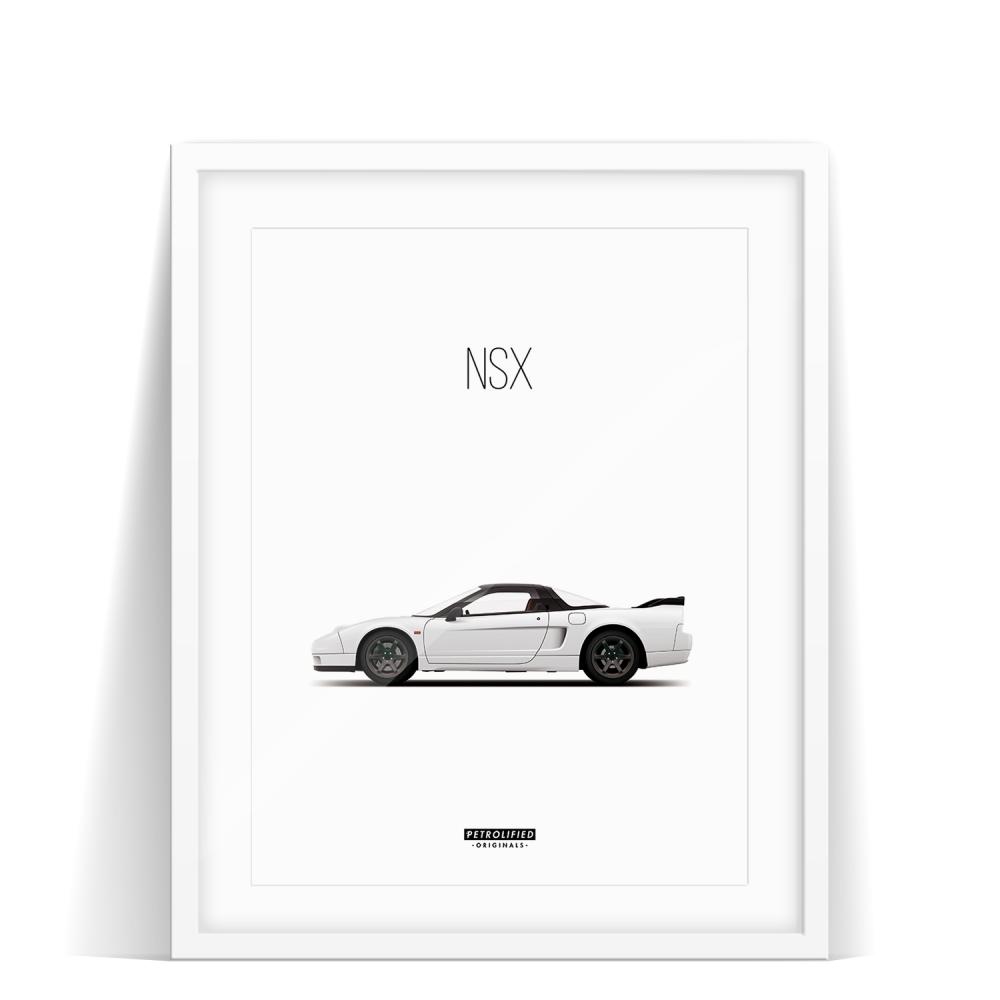 car prints, honda nsx, luxury car art