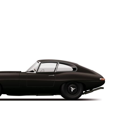 car prints, jaguar, jaguar etype monochrome, luxury car art