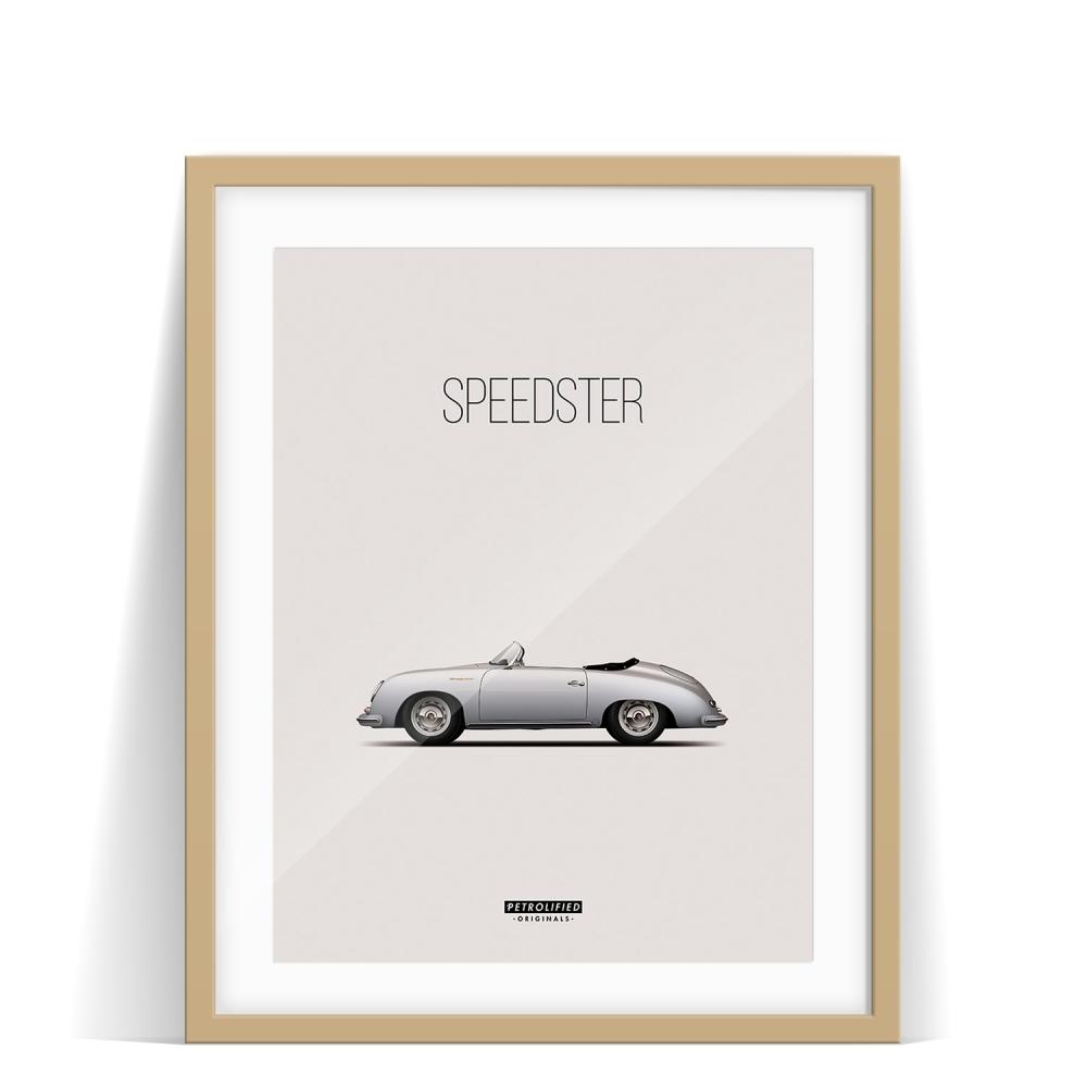 car prints, Porsche 356 Speedster, luxury car art