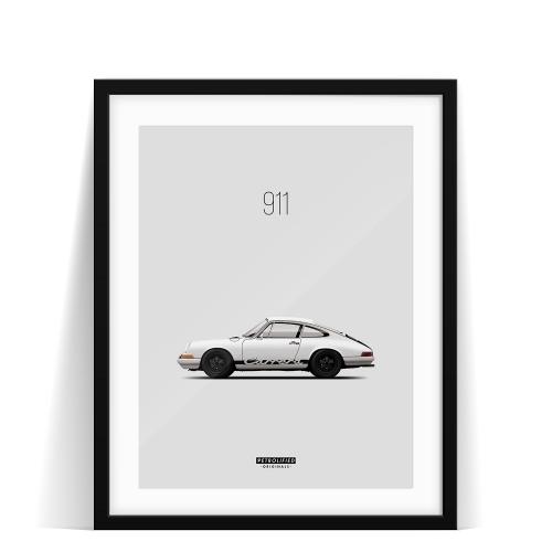 car prints, Porsche 911, luxury car art