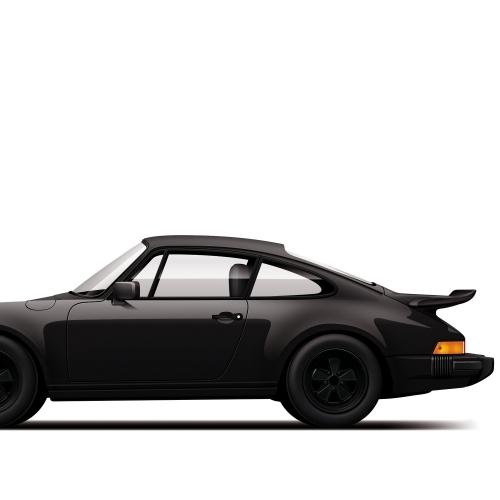 Car Prints Porsche 930 Turbo Monochrome Luxury Car Art