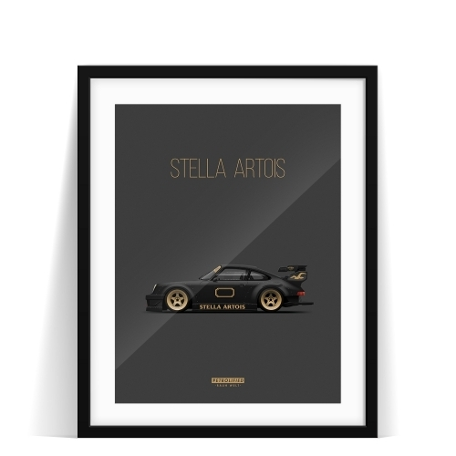car prints, Stella Artois, luxury car art
