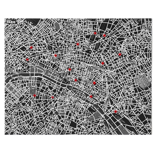 Pin City Paris - Black