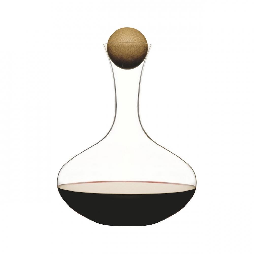 Red Wine Carafe   Hand-blown Glass   Oak Stopper   Sagaform