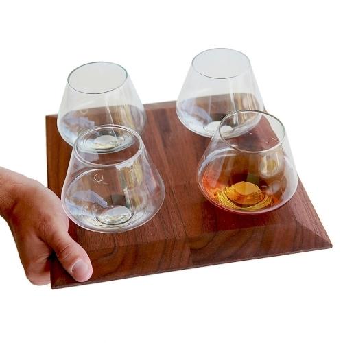 Wooden Glasses Tray   Cupa-Lift 4   Sempli