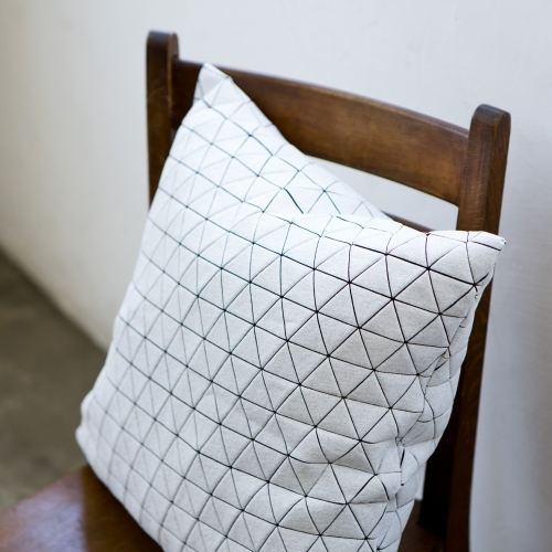 Ilay Pillow Cover, Black+White, Mikabarr