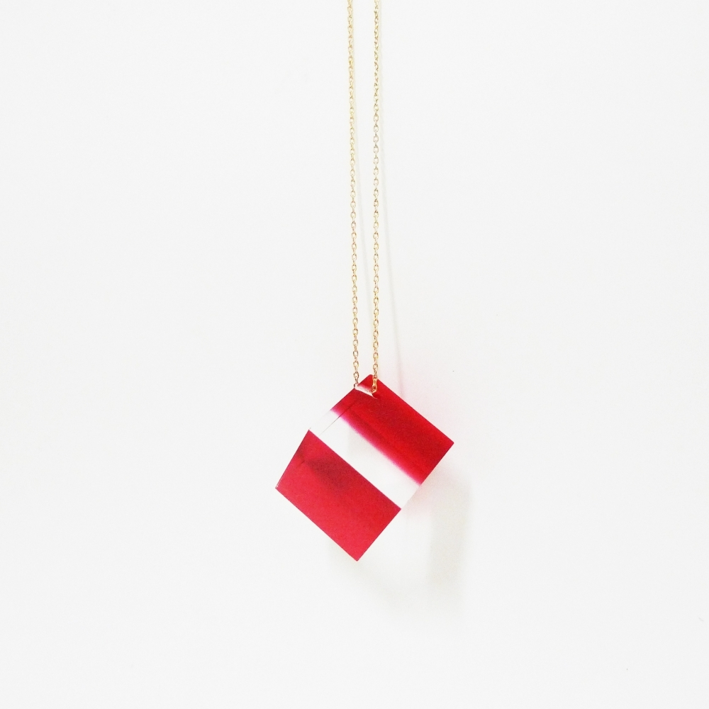 Acrylic Cube Necklace, Deon Rubi