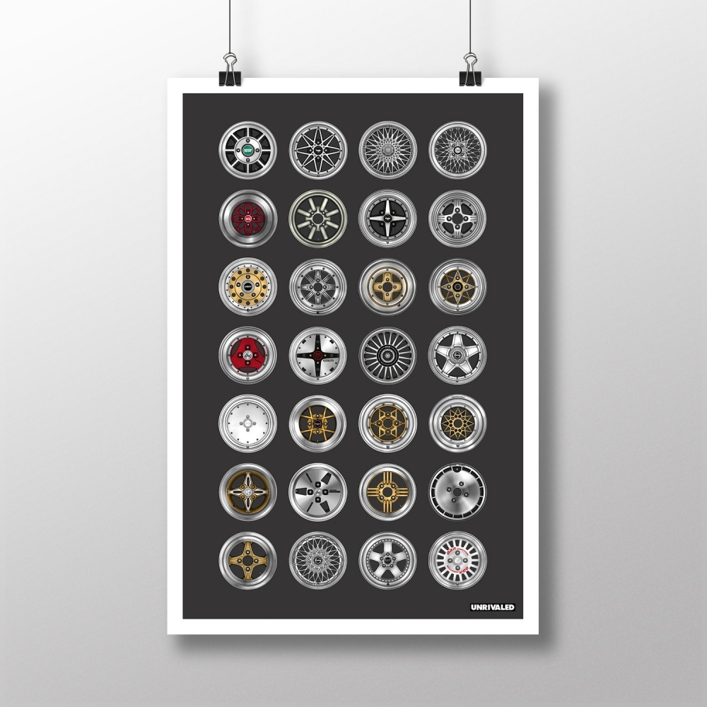 Vintage Wheels Print, Unrivaled