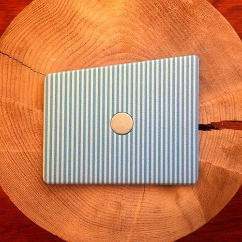Wooden Pocket Square   Pinstripe