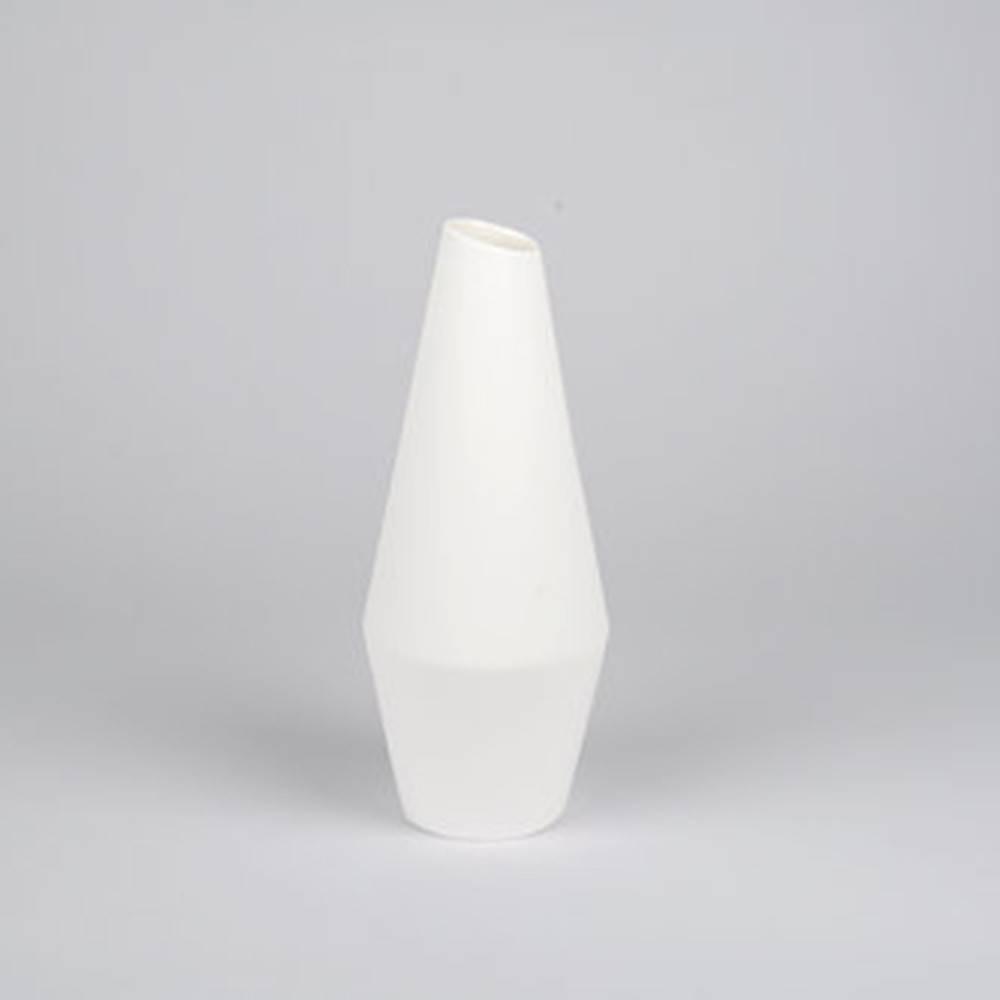 Crooked Vase, White - Classy Ceramic Vase