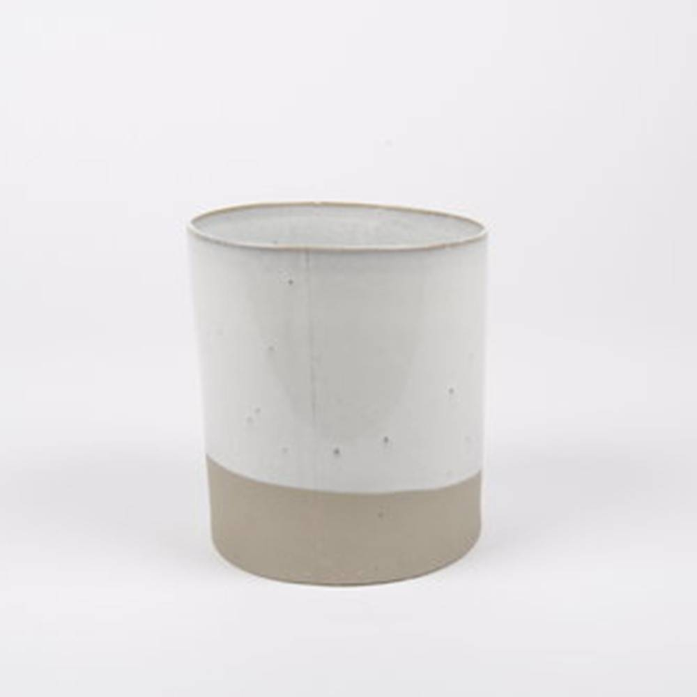 Slant Pot, Taupe - Classy Ceramic Pot