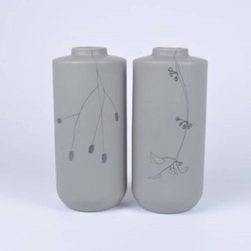 Flor Vase Set of 2, Grey