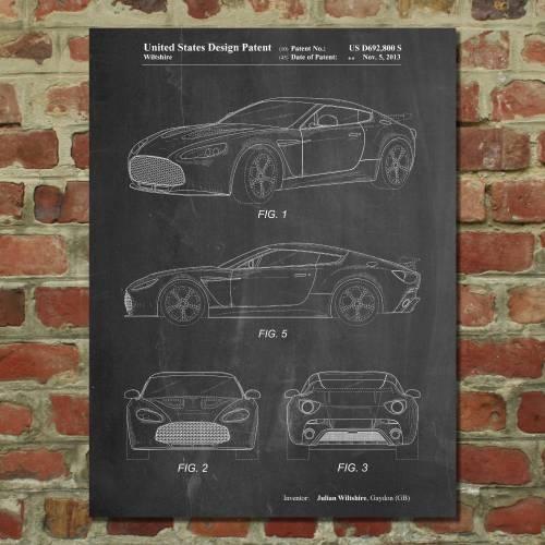 Aston Martin Patent Print - Patent Prints