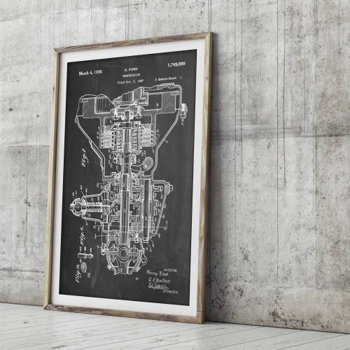 Automobile Transmission Patent Print - Patent Prints