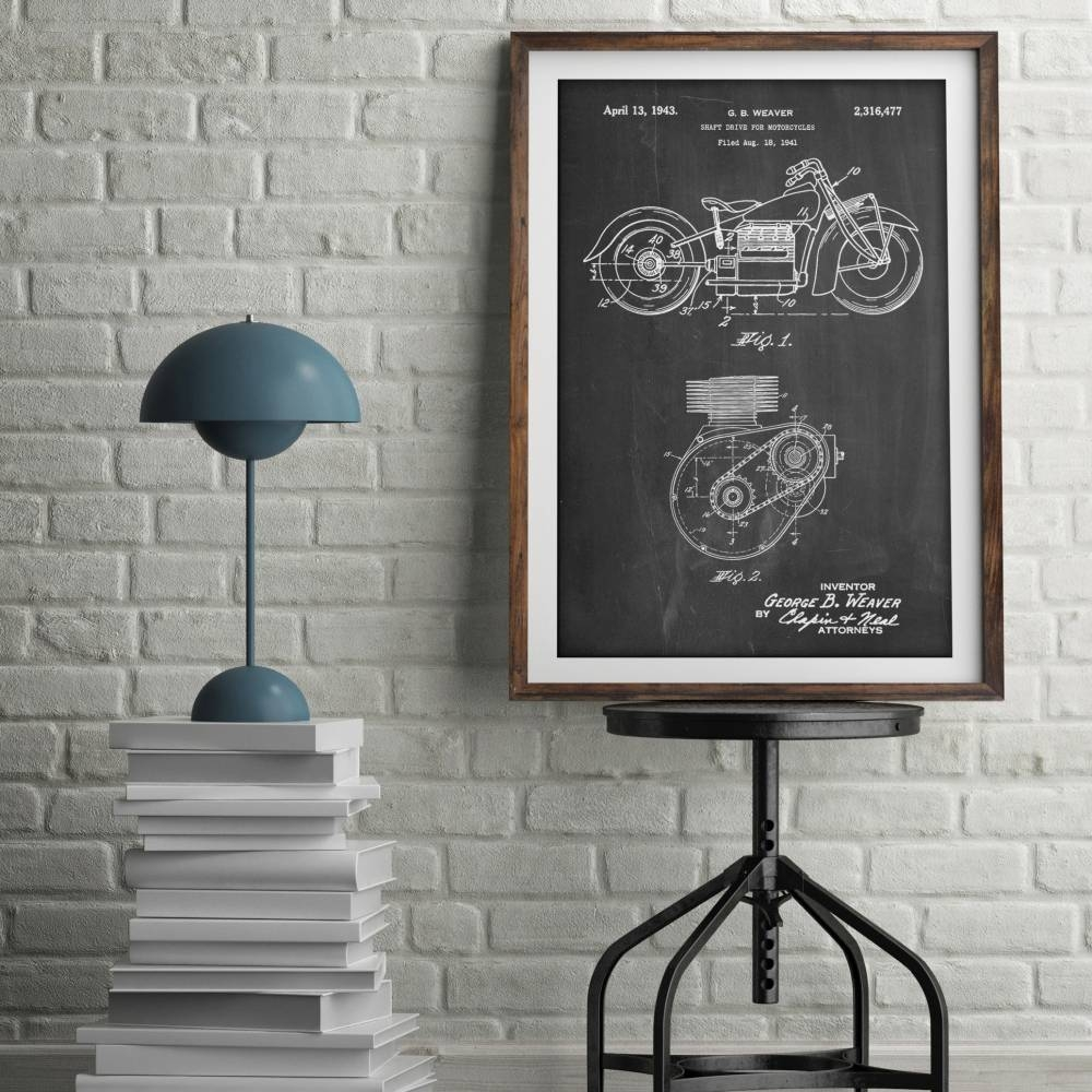 Indian Motorcycle Patent Print - Patent Prints