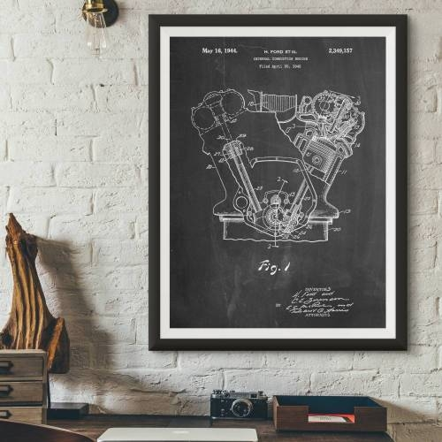 Internal Combustion Engine Patent Print