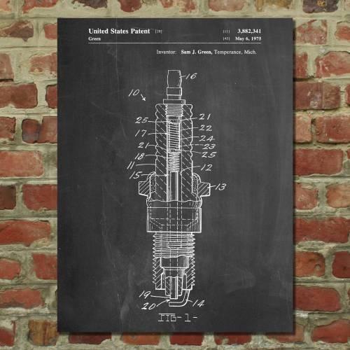 Spark Plug Patent Print