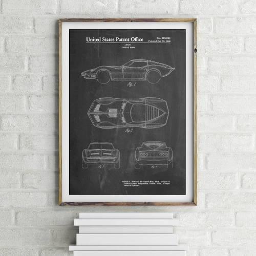 Stingray Corvette Patent Print - Patent Prints