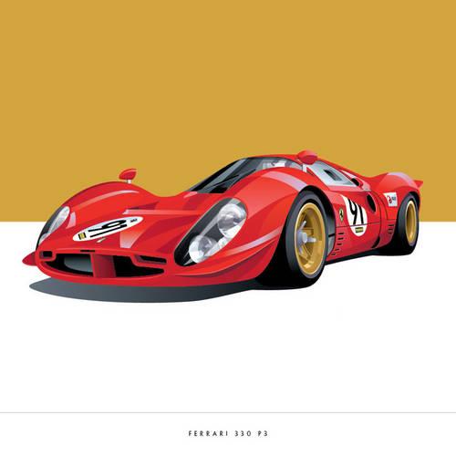 Ferrari 330 P3 Art Print