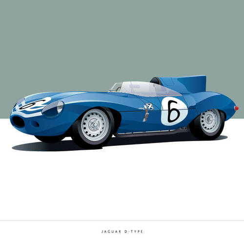 Jaguar D-Type Art Print
