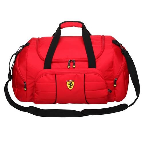 Red Overnight Duffel Bag - Ferrari