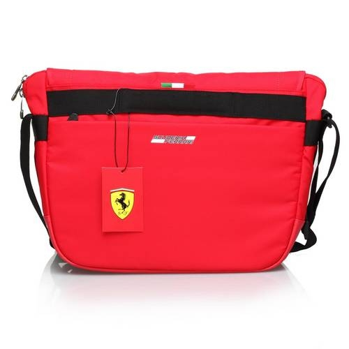 Red Travel Messenger Bag - Ferrari
