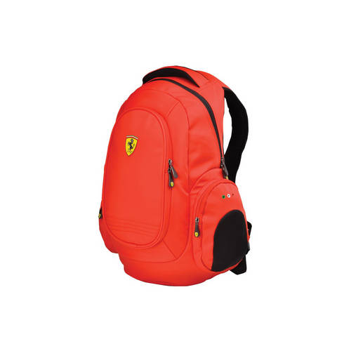 Red Laptop Backpack - Ferrari