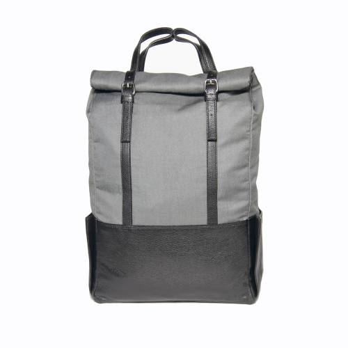Black Leather Backpack   Voyager  Transforms into a Tote Bag