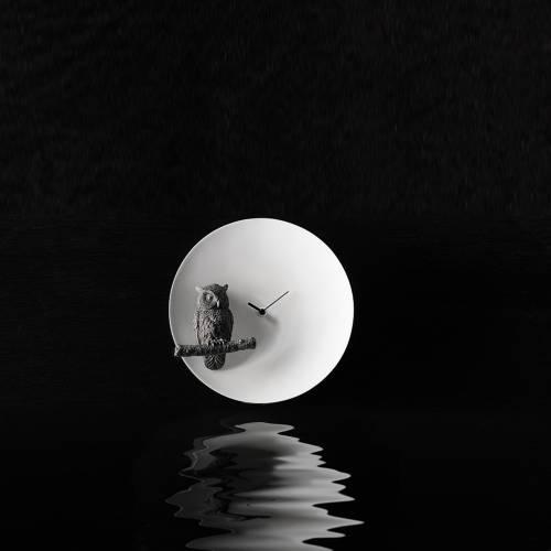 Moon X Owl Clock