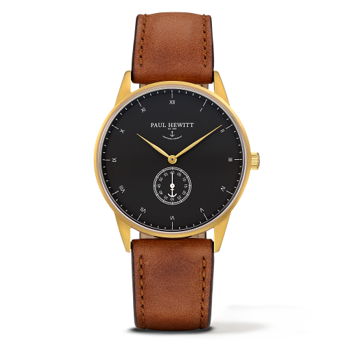 Mark I Leather Watch, Black Sea