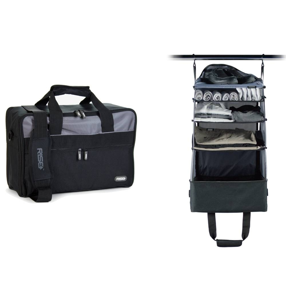 Jumper Carry-On Bag with Collapsible Shelves - GREY