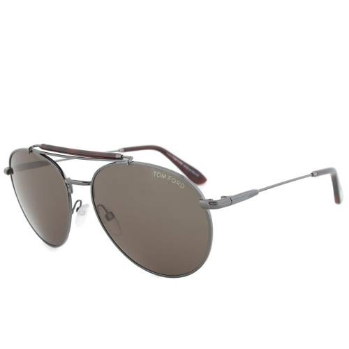 Tom Ford TF338 09N Colin Sunglasses   Gunmetal Frame   Grey