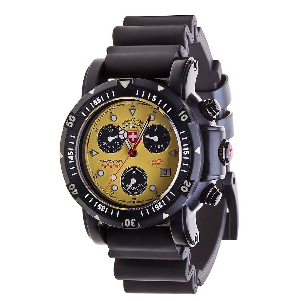 Swiss Military Watches  - SEEWOLF I SCUBA NERO, Yellow