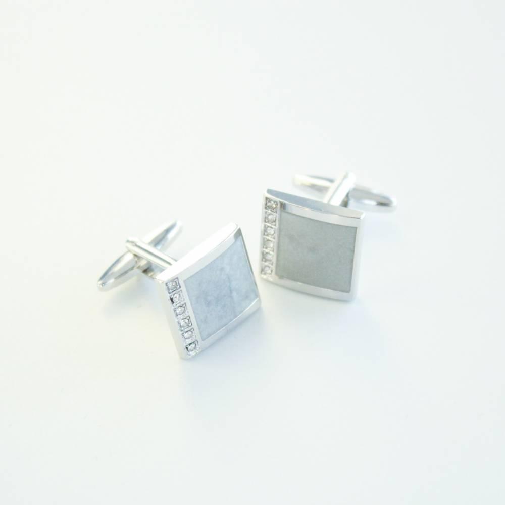 Diamond Marble Cufflink - FlipMyTie