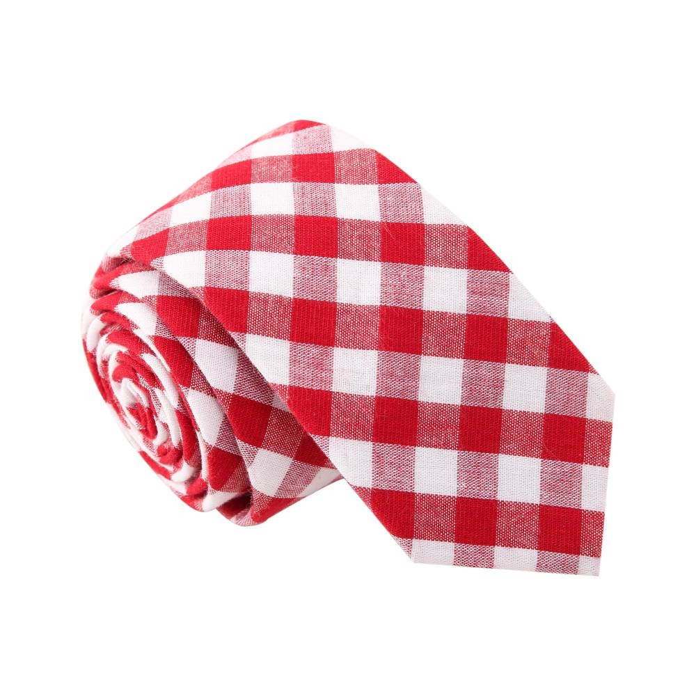 'Gangnam Style' Gingham Red Plaid Tie