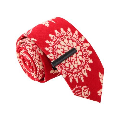 Bandana Bandit Red w/ Tie Clip