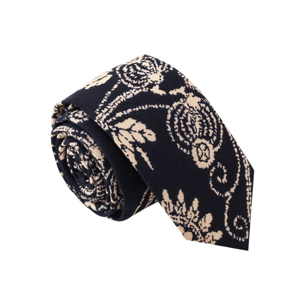 Bandana Joe' Black Printed Tie