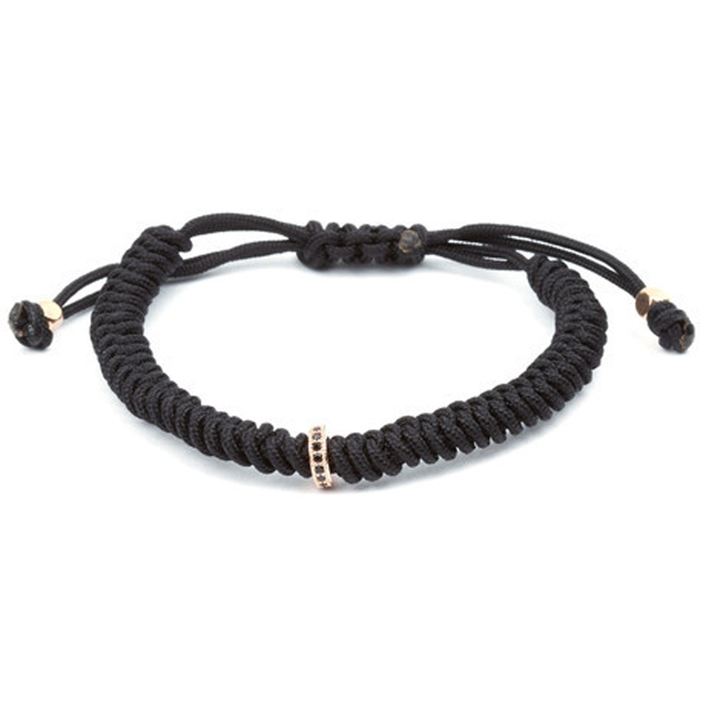 Black and Rose Elegance Cord Bracelet - Buttigo