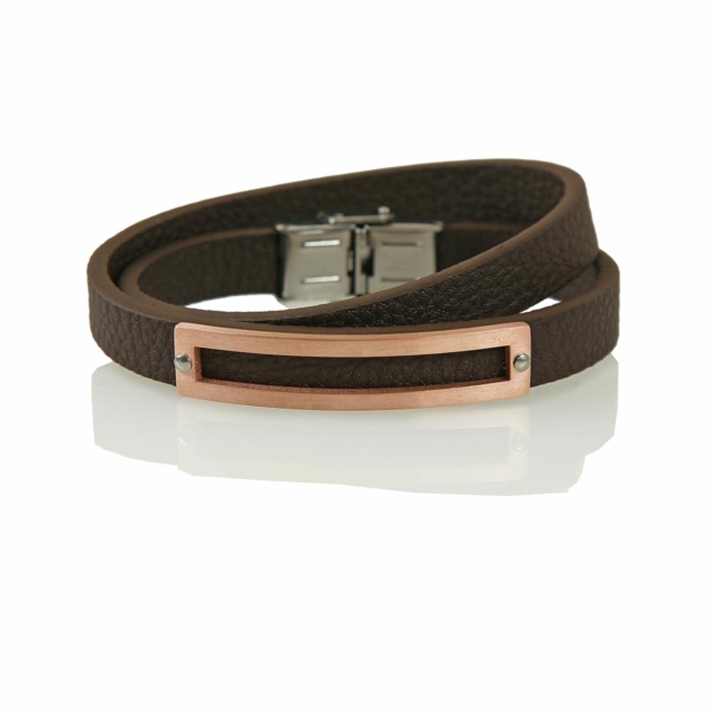 Brown Erdek Leather Bracelet - Buttigo