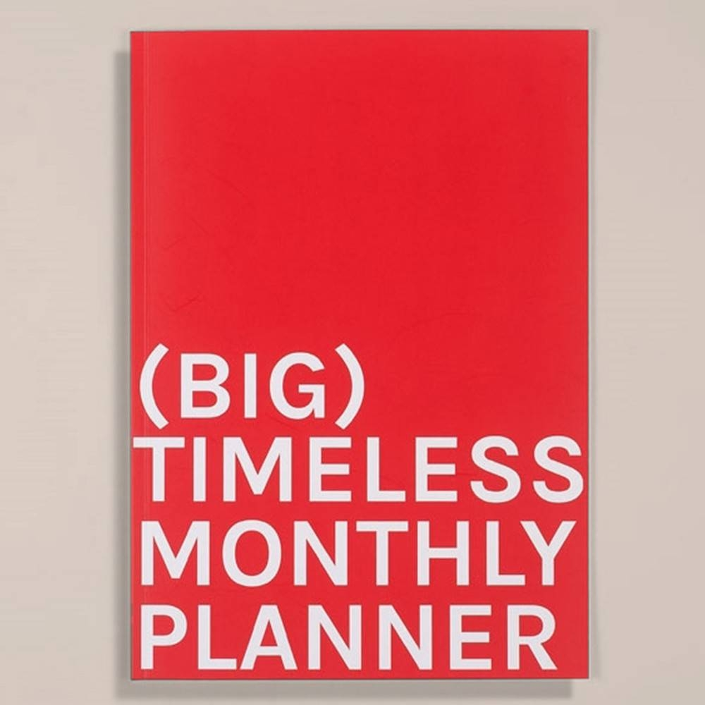 Big Timeless Monthly Planner | Octagon Design