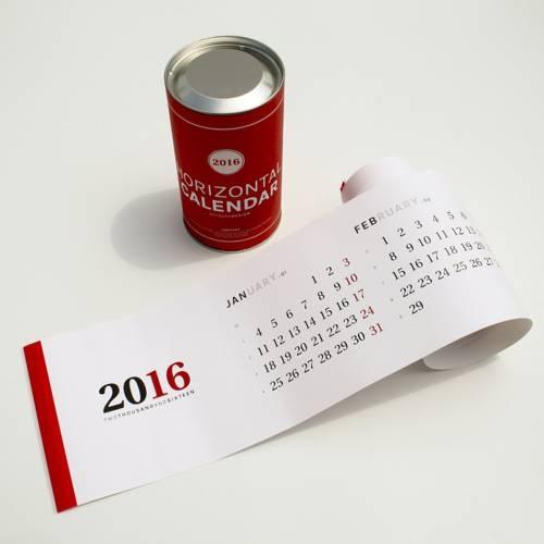 Horizontal calendar