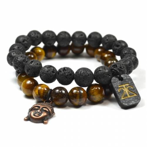 Tag Twenty Two | Tiger Eye and Lava Rock Set