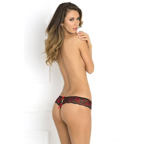 René Rofé | Lace thong with bows
