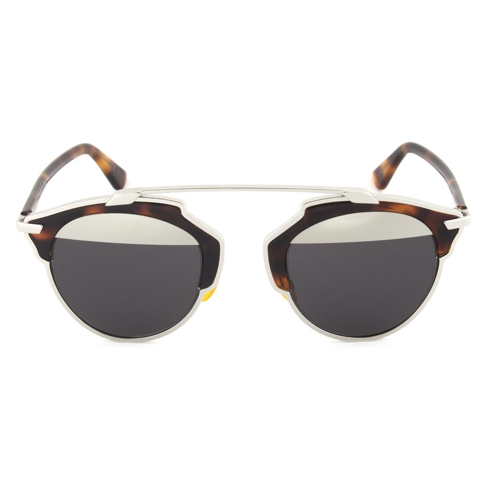 Dior AOOMD Sunglasses   Havana/Silver Gunmetal Frame