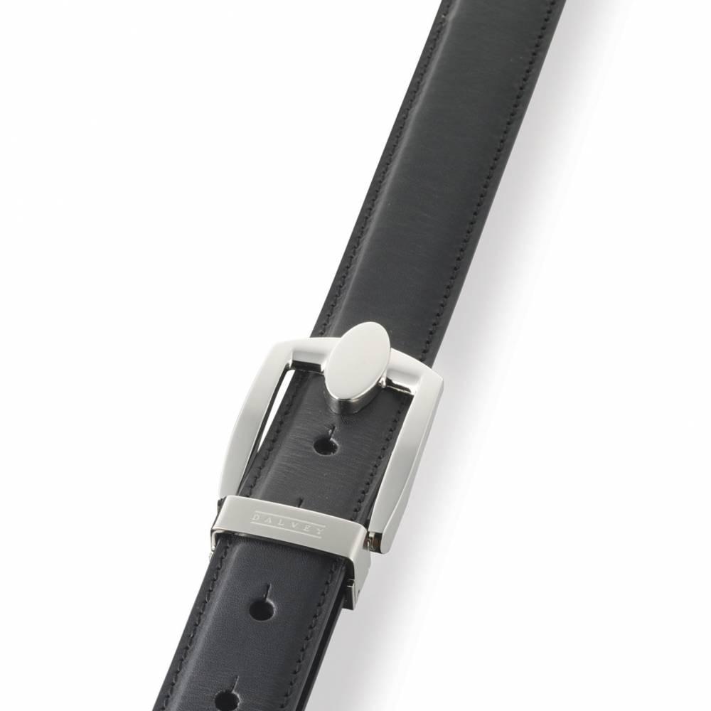 Black Eclipse Leather Belt   Dalvey