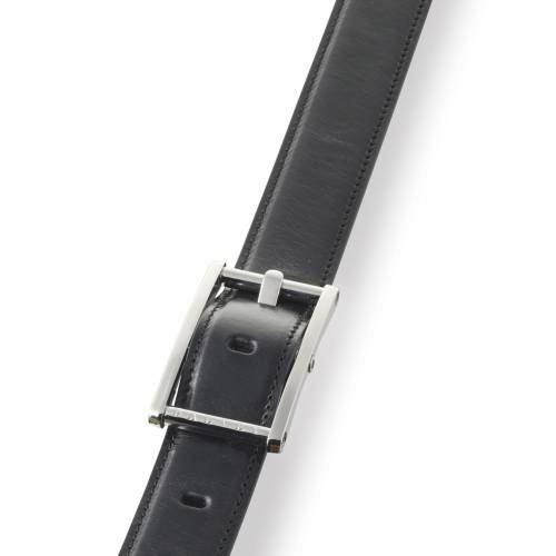 Black Statesman Leather Belt   Dalvey