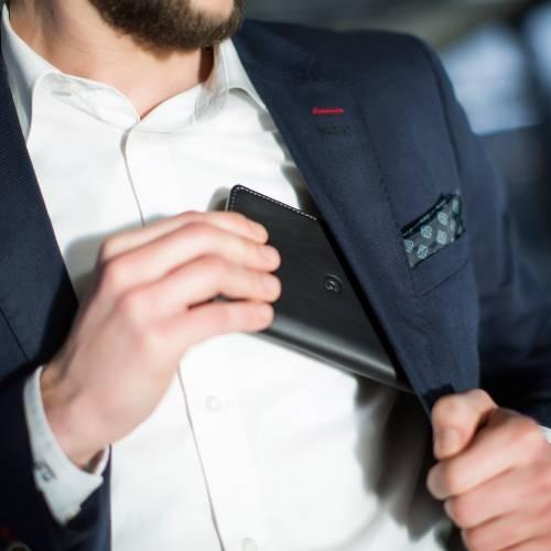 Black Leather iPhone 6 Wallet Case | Danny P