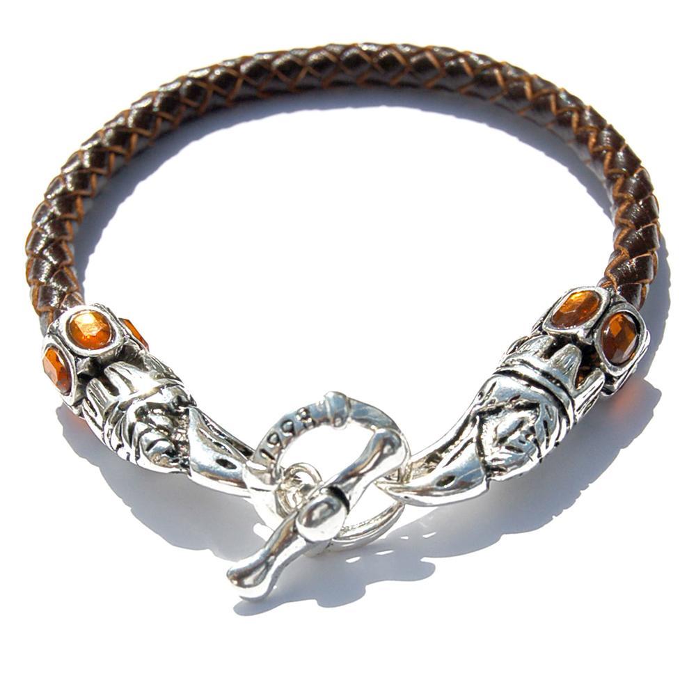 Leather Eagle Beak Clasp Bracelet   Who's Lookin' Design