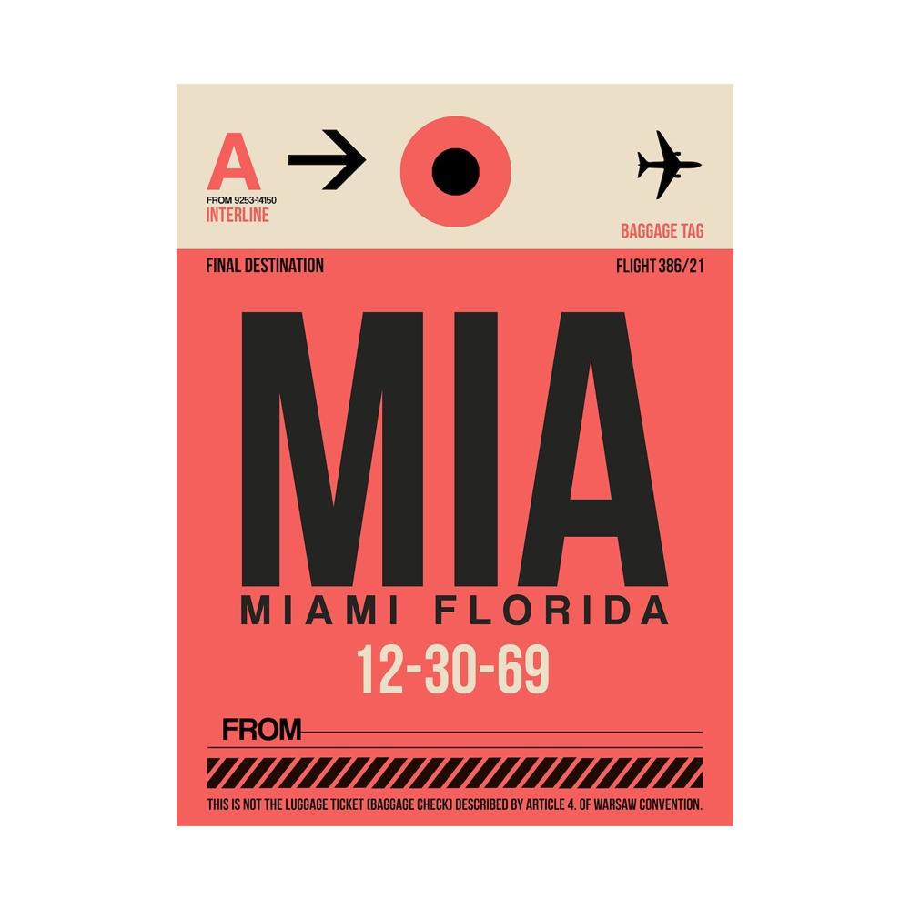 NaxArt | MIA Miami Poster